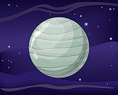 Uranus Planet. Sun System. Universe. Vector.