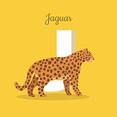 Animals Alphabet. Letter - J