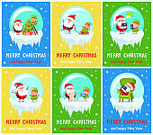 Merry Christmas Collection Vector Illustration