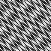 Black wavy line pattern on a white background