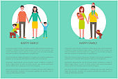 Happy Family Poster Text Sample, People in Circle
