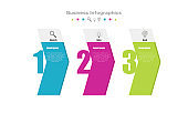 Business infographic. Banner with search and idea and goal. Business step success. Vector
