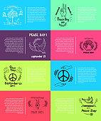 International Peace Day Vector Illustration 8 Pics