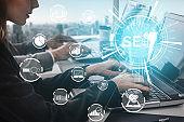 SEO Search Engine Optimization business concept