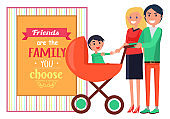 Friends Family you Choose Vector Graphic Poster