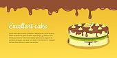 Delicious Cake. Excellent Cake. Strawberry Pie