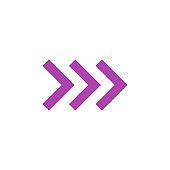 Modern flat colored arrow, great design for any purposes. Art vector illustration. Simple isolated pictogram.