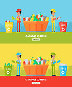 Garbage Sorting. Website Design Template