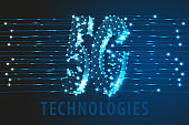 5G Global network technology background, vector, illustration, eps 10 file