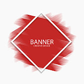 Abstract red paint stroke modern banner, vector, illustration, eps 10 file