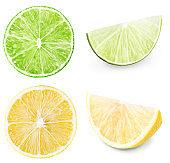 Lemon,lime,citrus set