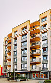 EU Modern residential apartment house complex and outdoor facilities