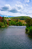 River Doubs and Citadel of Besancon Bourgogne