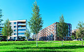 EU Park new apartment residential buildings with outdoor facilities Vilnius