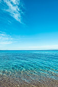 Beautiful view of a sea coast, travel background