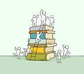 cute miniature of stack of books
