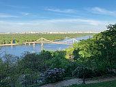 Pedestrian Bridge over the river Dnieper, Kiev