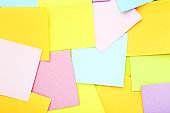 Background of colorful paper sticky notes