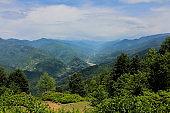 Landscape of Adjara, Georgia. Caucasus Mountains.