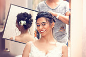 Beautiful bride getting ready for the happiest day of her life