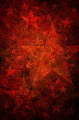 Red grunge background with stars