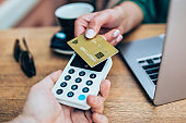 Contactless payment using a credit card
