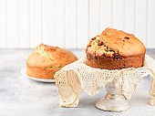 Panettone is the traditional Italian dessert for Christmas or Easter cake.