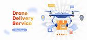 Drone Delivery Service Website Banner