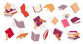 Different Books Vector Set