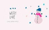 With love snow snowman winter Christmas season