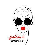 Fashion design sketch woman in style pop art