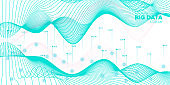 Data Motion. Blue Technology Illustration.