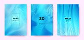 3d Lines Design. Wave Flow Shape. Neon Modern