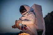Astronaut on Mars exploring