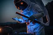 Astronaut on mission on Mars
