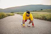 Overweight man running