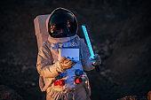 Astronaut on a mission on Mars