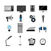 Set of vector electronics icons, electronics icons vector design