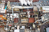 Industrial Factory, Paper Mill, From Above