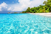 Beautiful beach and blue sky in Similan islands
