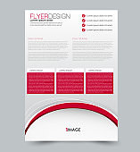Flyer design background. Brochure template.