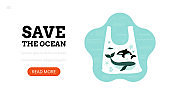 Save the ocean. Landing page