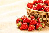 Strawberry in basket
