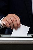 Election image, black background