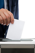 Voting image, white background