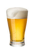Beer white background