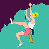 woman in climbing