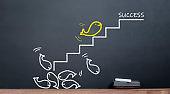 fish climb career ladder to success
