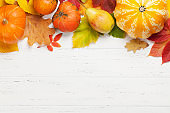 Autumn background with colorful leaves