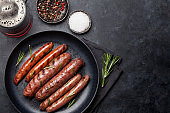Grilled sausages and beer
